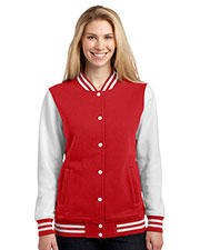 Sport-Tek LST270 Women Fleece Letterman Jacket at GotApparel