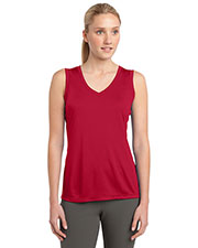 Sport-Tek LST352 Women Sleeveless PosiCharge™ Competitor™ V-Neck Tee at GotApparel