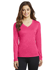 Sport-Tek® LST360LS Women Long-Sleeve Heather Contender  V-Neck Tee at GotApparel