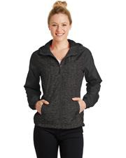 Sport-Tek® LST40 Women   Heather Colorblock Raglan Hooded Wind Jacket at GotApparel