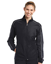 Sport-Tek LST61 Women Piped Colorblock Wind Jacket at GotApparel