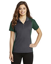 Sport-Tek LST652 Women's Colorblock Micropique Polo at GotApparel