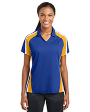 Sport-Tek® LST654 Women Tricolor Micro Pique Sportwick Polo at GotApparel