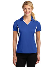 Sport-Tek® LST655 Women Side Blocked Micro Pique Sportwick Polo at GotApparel