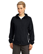 Sport-Tek® LST76 Women Colorblock Hooded Raglan Jacket at GotApparel
