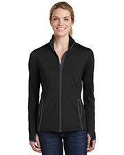 Sport-Tek® LST853 Women Stretch Contrast Full-Zip Jacket at GotApparel