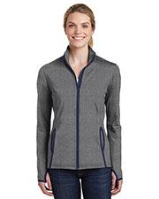 Sport-Tek® LST853 Women Stretch Contrast Full-Zip Jacket at GotApparel