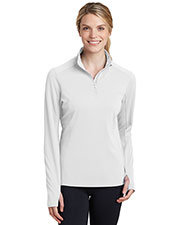 Sport-Tek LST860 Women's Textured 1/4-Zip Pullover at GotApparel