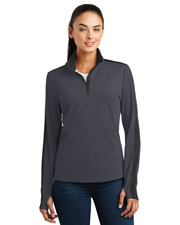 Sport-Tek® LST861 Women  Sport-Wick Textured Colorblock 1/4-Zip Pullover at GotApparel