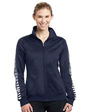 Sport-Tek® LST93 Women Dot Sublimation Tricot Track Jacket at GotApparel