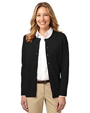Port Authority LSW304 Women Value JewelNeck Cardigan at GotApparel