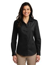Port Authority LW100 Women Sleeve Carefree Poplin Shirt     at GotApparel