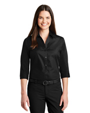 Port Authority LW102 Women Carefree Poplin Shirt      at GotApparel