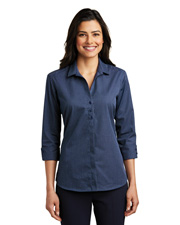 Port Authority LW643 Women Micro Tattersall Easy Care Shirt    at GotApparel
