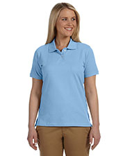 Harriton M100W Women's 6.5 oz. Ringspun Cotton Pique Short-Sleeve Polo at GotApparel