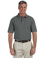 Harriton M200 Men 6 Oz. Ringspun Cotton Pique Short-Sleeve Polo at GotApparel