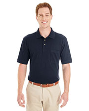 Harriton M200P  6 Oz. Ringspun Cotton Piqué Short-Sleeve Pocket Polo at GotApparel