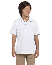 Harriton M200Y Boys 6 Oz. Ringspun Cotton Pique Short-Sleeve Polo at GotApparel