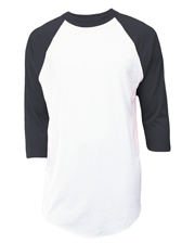 Soffe M209 Men Adult Reglan Baseball 50/50 Cotton/Poly at GotApparel