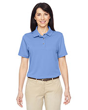 Harriton M345W Women's Advantage IL Snap Placket Performance Polo at GotApparel