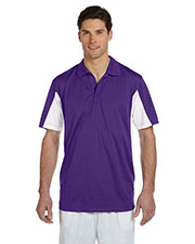 Harriton M355 Men Side Blocked MicroPique Polo at GotApparel