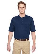 Harriton M400 Men Adult Prime short sleeve Performance Henley at GotApparel