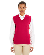 Harriton M415W Women Pilbloc  V-Neck Sweater Vest at GotApparel