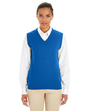 Harriton M415W  Ladies' Pilbloc™ V-Neck Sweater Vest at GotApparel