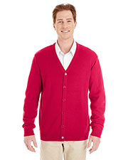 Harriton M425  Men's Pilbloc™ V-Neck Button Cardigan Sweater at GotApparel
