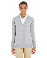 Harriton M425W  Ladies' Pilbloc™ V-Neck Button Cardigan Sweater at GotApparel