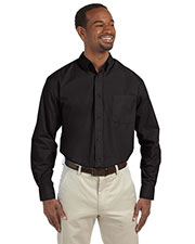 Harriton M510 Men 3.1 oz. Essential Poplin at GotApparel