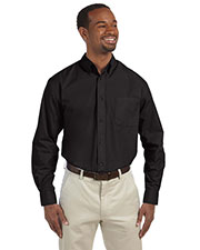 Harriton M510T Men Tall 3.1 Oz. Essential Long-Sleeve Poplin at GotApparel