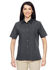 Harriton M545W Women Advantage Snap Closure Short-Sleeve Shirt at GotApparel