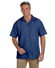 Harriton M560 Men Barbados Textured Camp Shirt at GotApparel