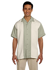 Harriton M575 Men Twotone Bahama Cord Camp Shirt at GotApparel