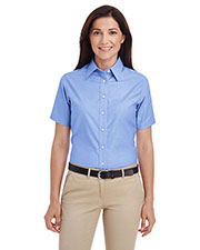 Harriton M600SW  Ladies' Short-Sleeve Oxford With Stain-Release at GotApparel