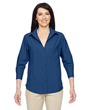 Harriton M610W Women Paradise Three-Quarter Sleeve Performance Shirt at GotApparel