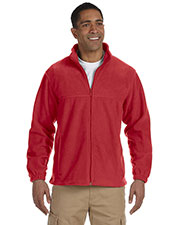 Harriton M990T Men Tall 8oz. Full Zip Fleece at GotApparel
