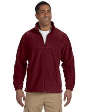Harriton M990T Men Tall 8 Oz. Full-Zip Fleece at GotApparel