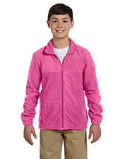 Harriton M990Y Youth 8 Oz. Full-Zip Fleece at GotApparel
