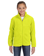 Harriton M990Y Girls 8 oz. Full Zip Fleece at GotApparel