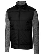 Cutter & Buck MCK09406 Men Stealth Full Zip Wind Knit at GotApparel