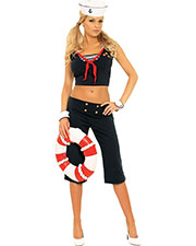 Halloween Costumes MO9698MD Women First Mate Medium Size 6-10 at GotApparel