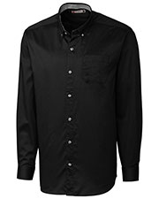 Clique New Wave MQW00008 Men Long-Sleeve Bergen Stain-Resistant Twill Shirt at GotApparel