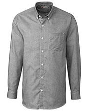 Clique New Wave MQW00009 Men Long-Sleeve Granna Stain-Resistant Houndstooth Shirt at GotApparel