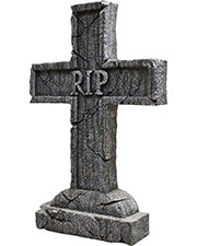 Morris Costumes MR122334 Rest In Peace Cross Tombstone at GotApparel