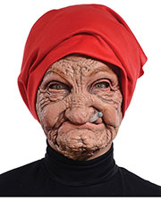 Halloween Costumes MR131136  OLD NANA LATEX MASK at GotApparel