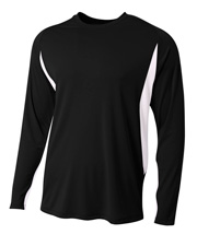 A4 N3183  Long Sleeve Color Block Tee at GotApparel