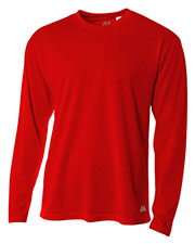 A4 N3253 Men Textured Tech Long Sleeve Tee at GotApparel