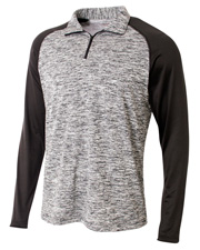 A4 N4249  1/4 Zip Space Dye With Contrast at GotApparel